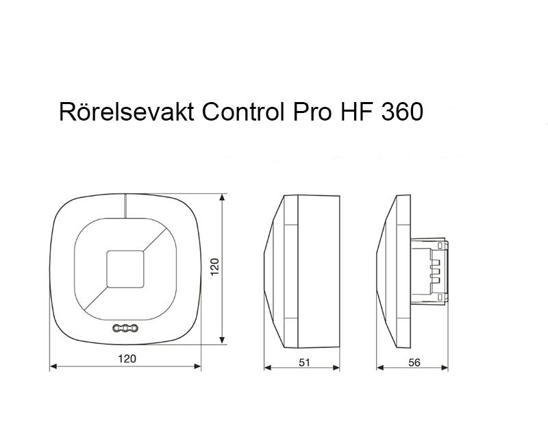 Måttskiss Control Pro HF360