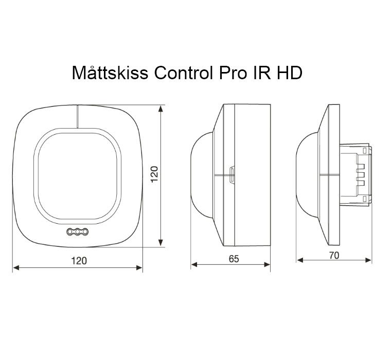 Måttskiss Control Pro IR HD