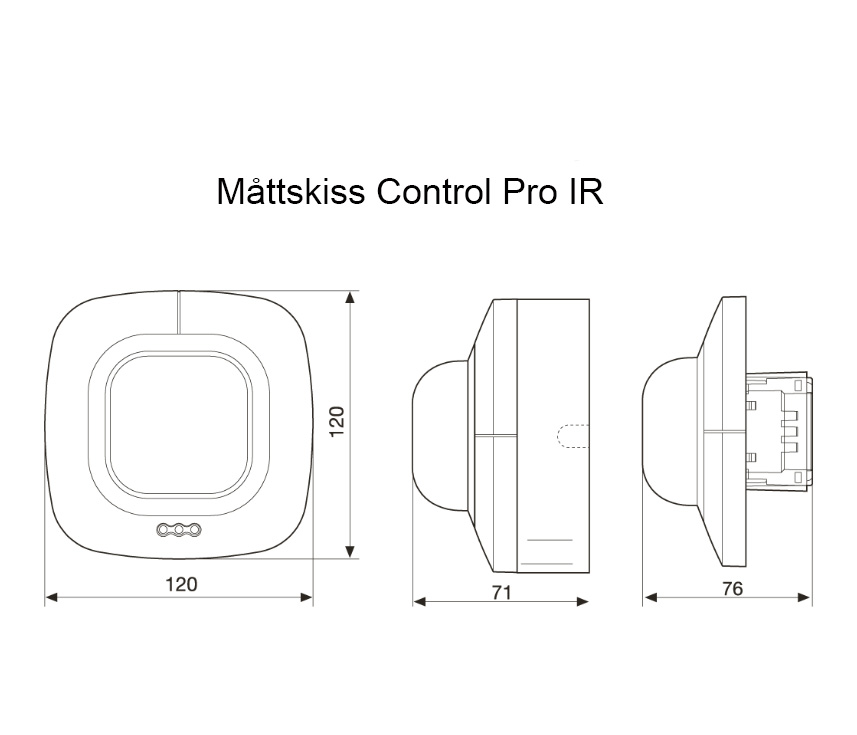 Måttskiss Control Pro IR
