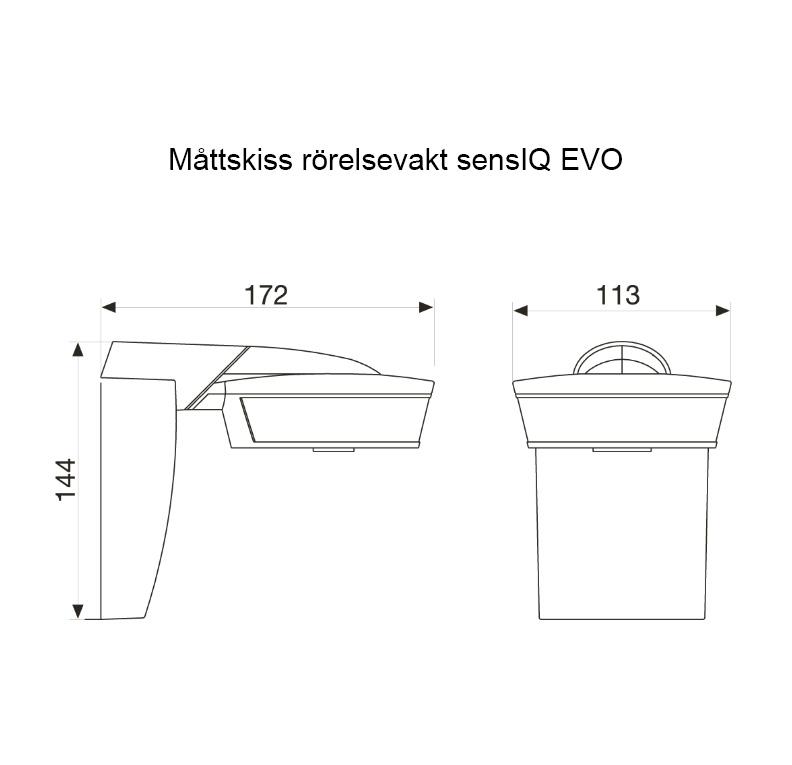 Måttskiss sensIQ EVO Steinel