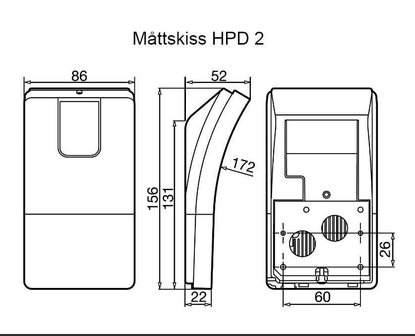 Måttskiss närvarovakt HPD2