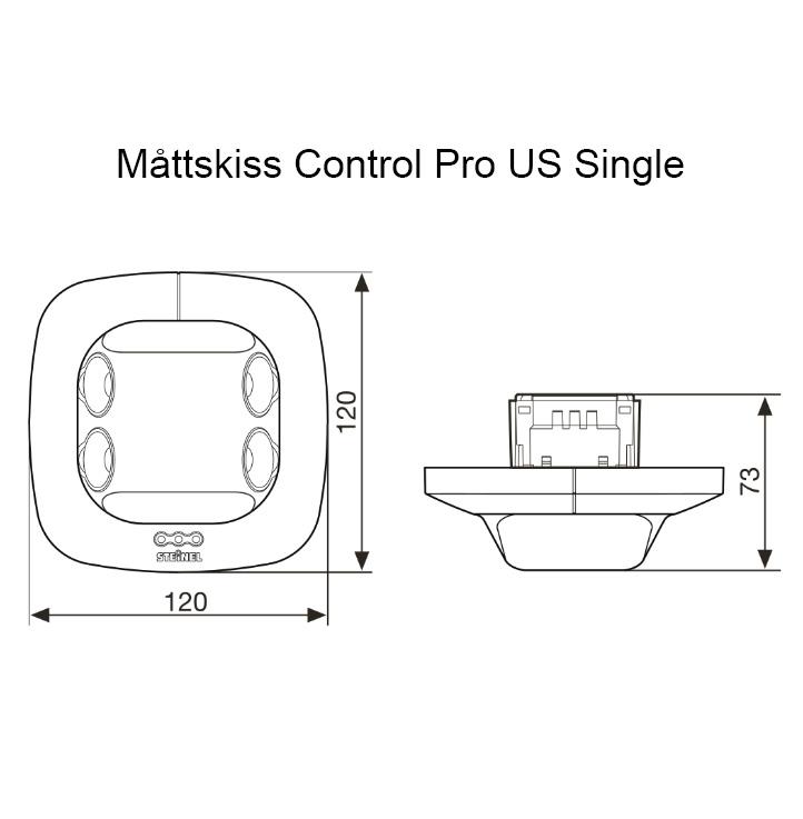 Måttskiss Control Pro US Dual