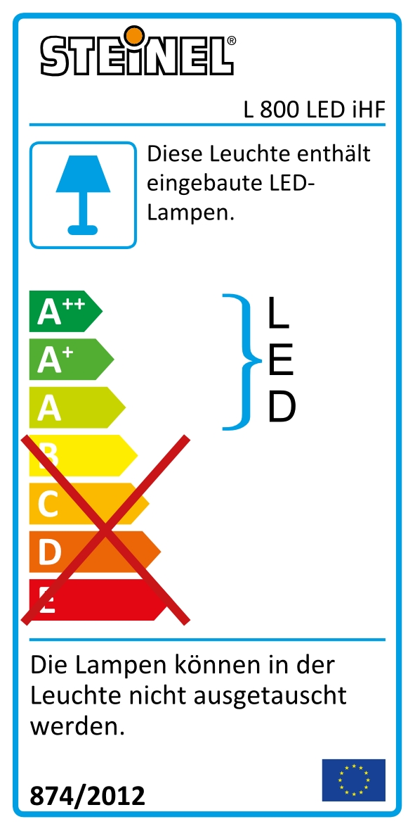 Sensorlampa L800 LED iHF