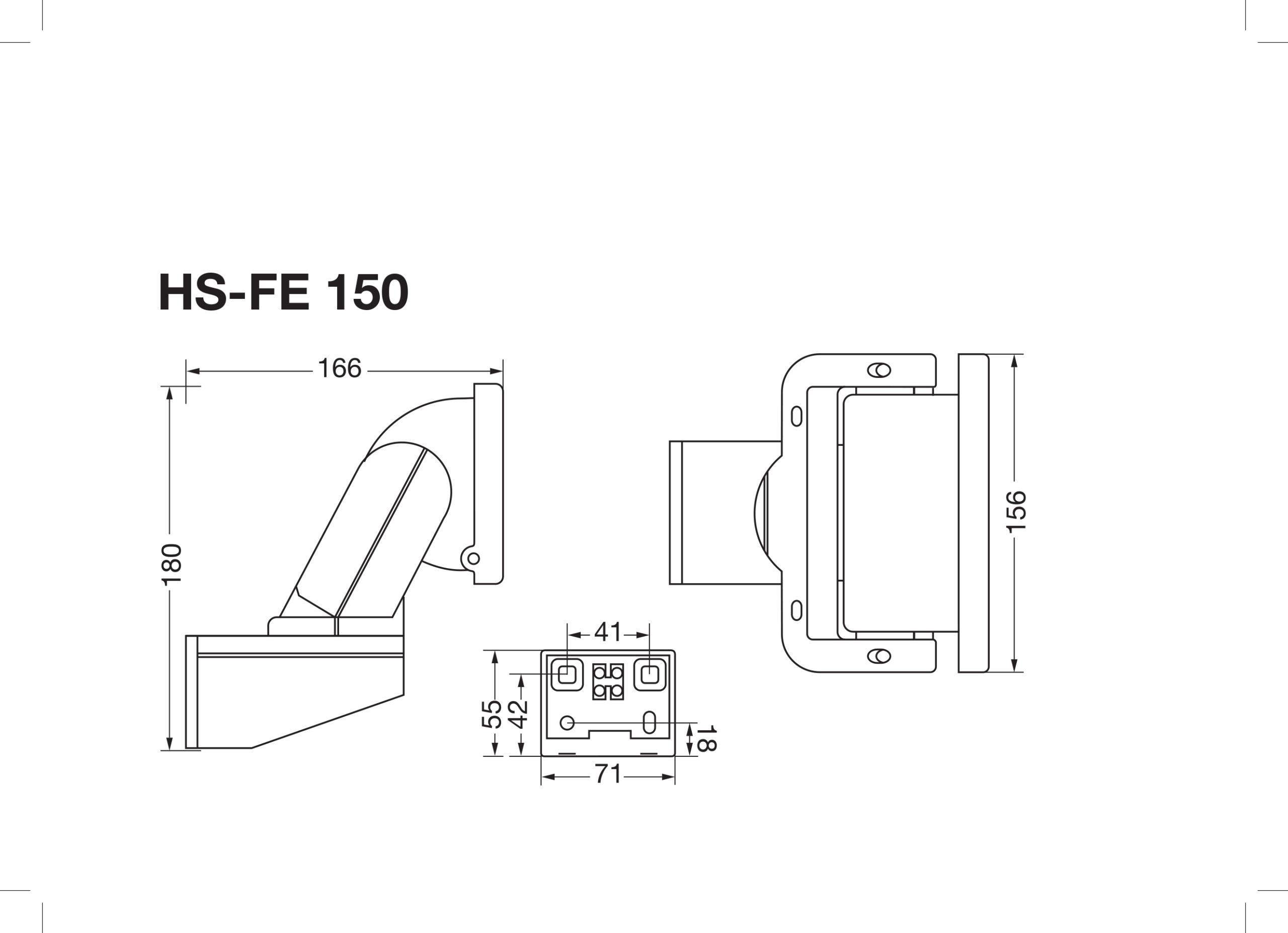Strålkastare HS-FE 150