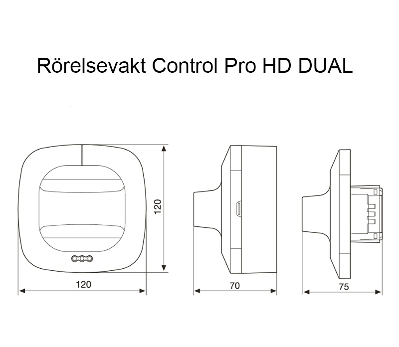 Måttskiss Control Pro HF DUAL Steinel