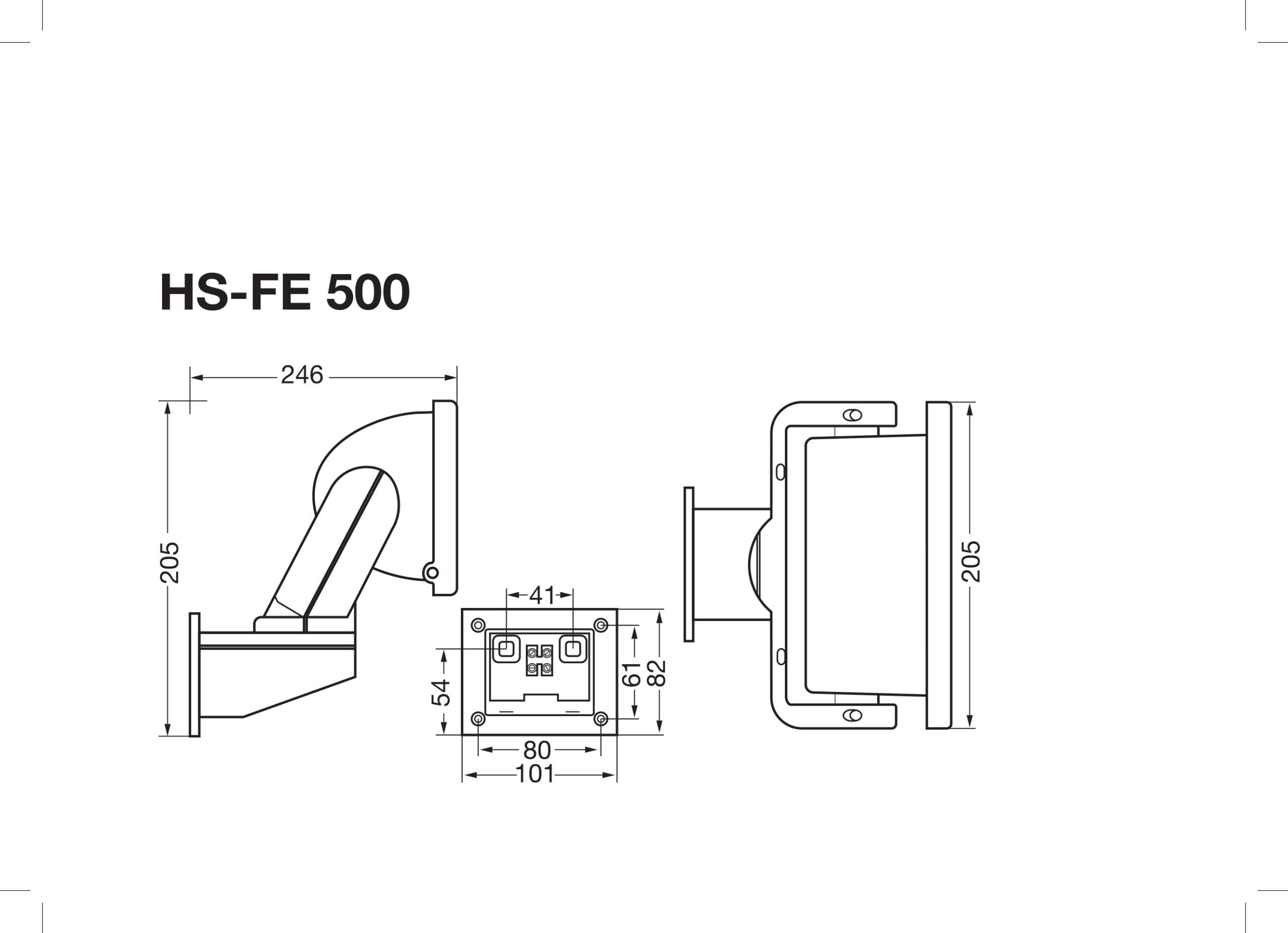 Strålkastare HS-FE 500