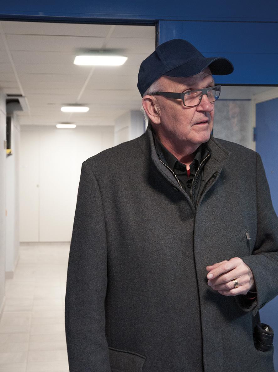 Eibert Johansson, ordförande i brf Åparken.