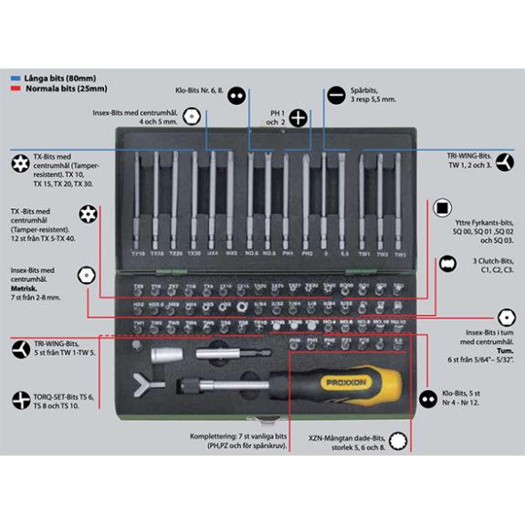 23107 Superbitsats för säkerhets- och specialskruvar, 75 delar