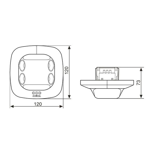 Måttskiss Control Pro US dual från Steinel