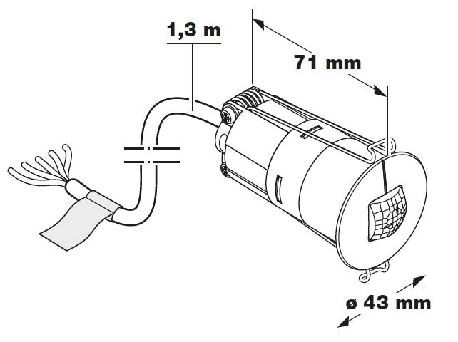 Måttskiss Control Pro IR Micro